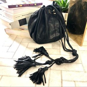 BABAGITA LEATHER DRAWSTRING BAG SUPER CUTE